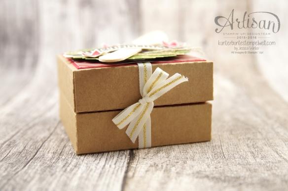 Stampin´ Up! - Willkommen Weihnacht - Designerpapier Zuckerstangenzauber - Karft Karton - 5