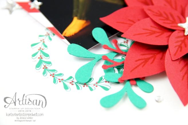 Stampin´ Up! - Projekt Life Hallo Dezember 2016 - Weihnachtswunder - Elementstanze Festliche Blüte - Thinlitsformen Tannen und Zapfen - 5
