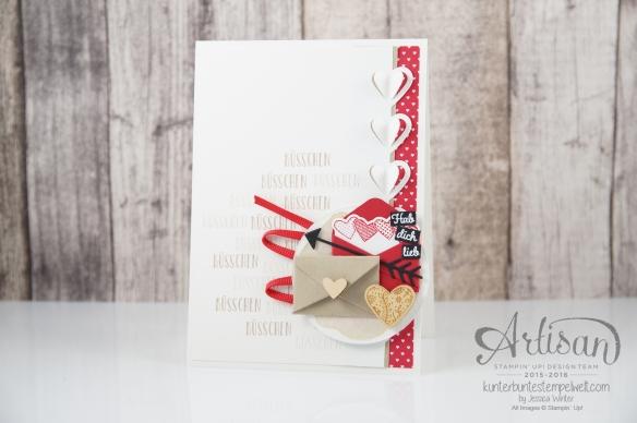 Stampin´ Up!-Artisan Design Team-Mit Gruß und Kuss-Framelits Formen Liebesgrüße-Designerpapier im Block Liebe Grüße-1
