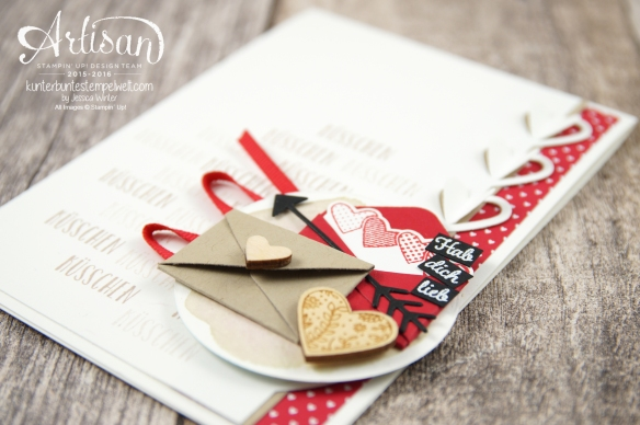 Stampin´ Up!-Artisan Design Team-Mit Gruß und Kuss-Framelits Formen Liebesgrüße-Designerpapier im Block Liebe Grüße-4