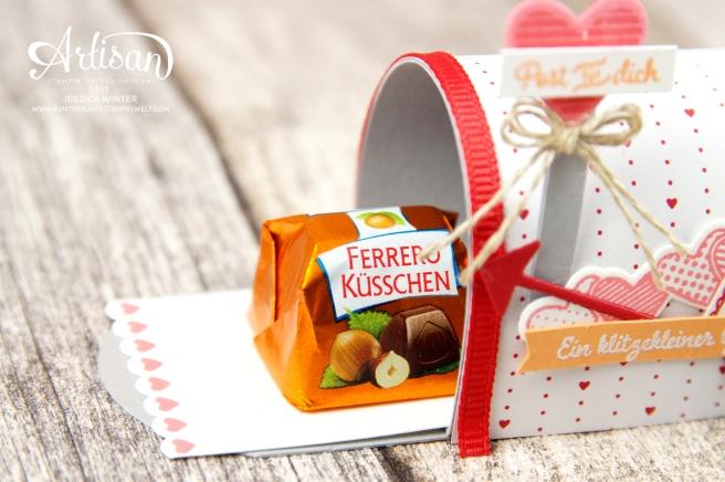 Stampin´ Up!-Mit Gruß und Kuss-Framelitsformen Liebesgrüße-Designerpapier im Block Liebe Grüße- Mini Mail Box-Anleitung-2
