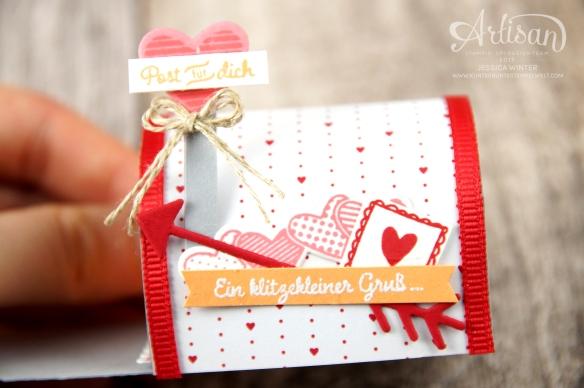 Stampin´ Up!-Mit Gruß und Kuss-Framelitsformen Liebesgrüße-Designerpapier im Block Liebe Grüße- Mini Mail Box-Anleitung-3