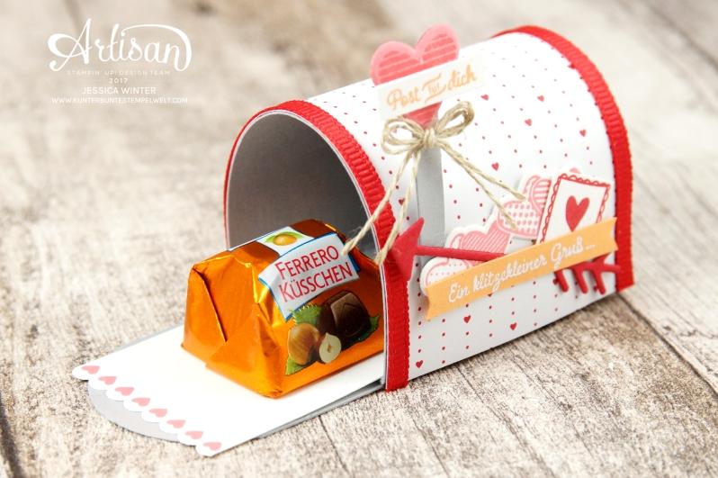 Stampin´ Up!-Mit Gruß und Kuss-Framelitsformen Liebesgrüße-Designerpapier im Block Liebe Grüße- Mini Mail Box-Anleitung-5