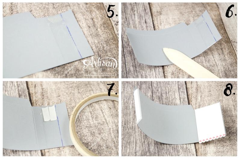 Stampin´ Up!-Mit Gruß und Kuss-Framelitsformen Liebesgrüße-Designerpapier im Block Liebe Grüße- Mini Mail Box-Anleitung-7
