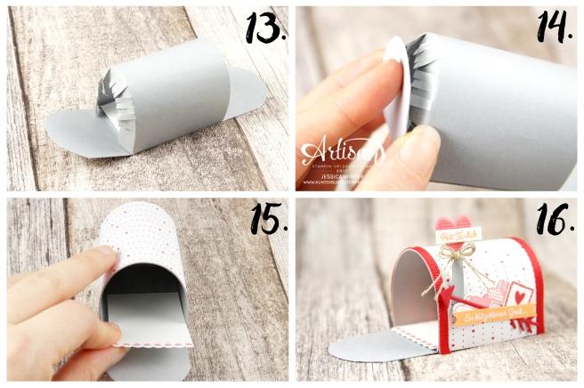 Stampin´ Up!-Mit Gruß und Kuss-Framelitsformen Liebesgrüße-Designerpapier im Block Liebe Grüße- Mini Mail Box-Anleitung-9
