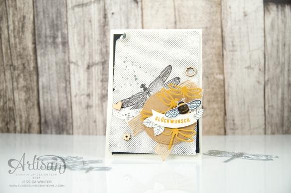 Stampin´ Up - Li(e)belleien -THinlitsformen Libelle - Accessoires Liebe Grüße - Besonderes Designerpapier Unvergleichlich Urban - 1