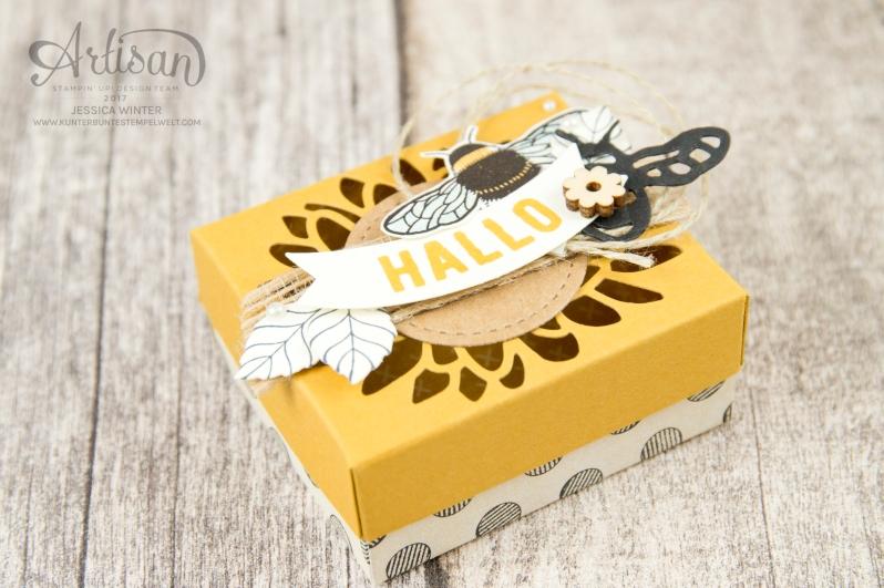 Stampin´ Up - Li(e)belleien -THinlitsformen Libelle - Accessoires Liebe Grüße - Besonderes Designerpapier Unvergleichlich Urban - Verpackung für Ferrero Küsschen - 2