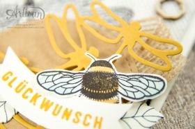 Stampin´ Up - Li(e)belleien -THinlitsformen Libelle - Accessoires Liebe Grüße - Besonderes Designerpapier Unvergleichlich Urban - 3