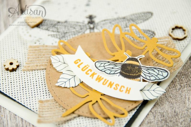 Stampin´ Up - Li(e)belleien -THinlitsformen Libelle - Accessoires Liebe Grüße - Besonderes Designerpapier Unvergleichlich Urban - 2
