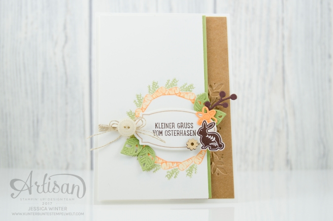Stampin´ Up! - Osterkörbchen - Every Occasion - sandfarbener Karton - Bezaubernde Blüten - 1