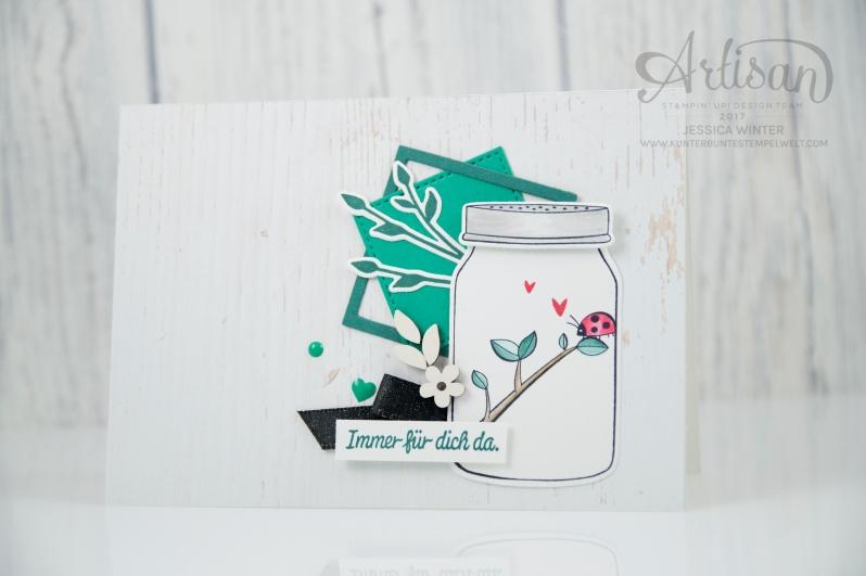 Stampin´ Up! - Etwas Süßes - Einweckgläser für alle Fälle - Meeresgrün - Smaragdgrün - Lagenweise Quadrate - 1