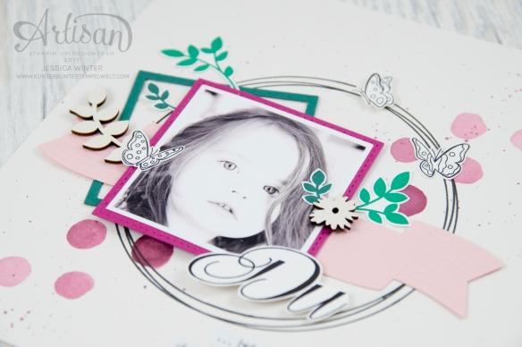 Stampin´ Up! - Für Freunde - Etwas Süßes - Framelits Lorbeerkranz - Lagenweise Quadrate - Stickmuster - 2