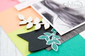 Stampin´ Up! - scrapbooking - Thinlits Lorbeerkranz - Für Freunde - Designerpapier Holzdekor - Akzente aus der Natur - Papierklips kleine Vielfalt - 3