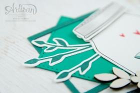 Stampin´ Up! - Etwas Süßes - Einweckgläser für alle Fälle - Meeresgrün - Smaragdgrün - Lagenweise Quadrate - 3