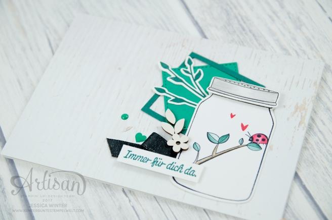 Stampin´ Up! - Etwas Süßes - Einweckgläser für alle Fälle - Meeresgrün - Smaragdgrün - Lagenweise Quadrate - 5