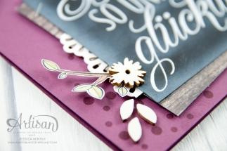 Stampin´ Up! - Für Freunde - Etwas Süßes - Dekobordüre - Designerpapier Holzdekor - 4