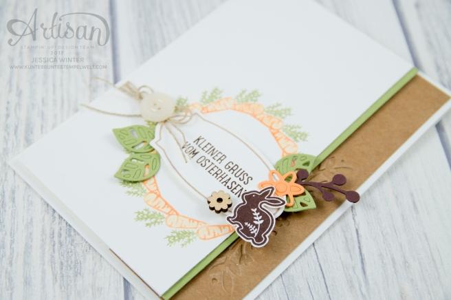 Stampin´ Up! - Osterkörbchen - Every Occasion - sandfarbener Karton - Bezaubernde Blüten - 6