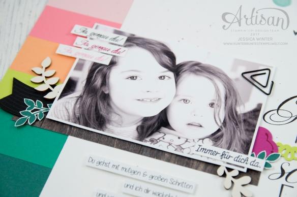 Stampin´ Up! - scrapbooking - Thinlits Lorbeerkranz - Für Freunde - Designerpapier Holzdekor - Akzente aus der Natur - Papierklips kleine Vielfalt - 2