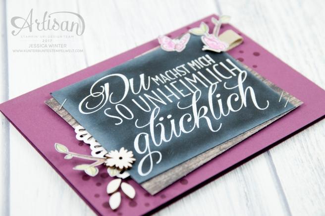 Stampin´ Up! - Für Freunde - Etwas Süßes - Dekobordüre - Designerpapier Holzdekor - 5