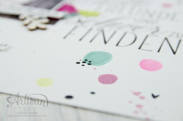 Stampin´ Up! - scrapbooking - Thinlits Lorbeerkranz - Für Freunde - Designerpapier Holzdekor - Akzente aus der Natur - Papierklips kleine Vielfalt - 5