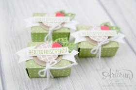 Strampin´ Up! - Mini Tic Tac Verpackung - Stanz und Falzbrett für Umschläge - Envelope Punch Board - Eis, Eis, Baby - Designerpapier Genussmomente - 4