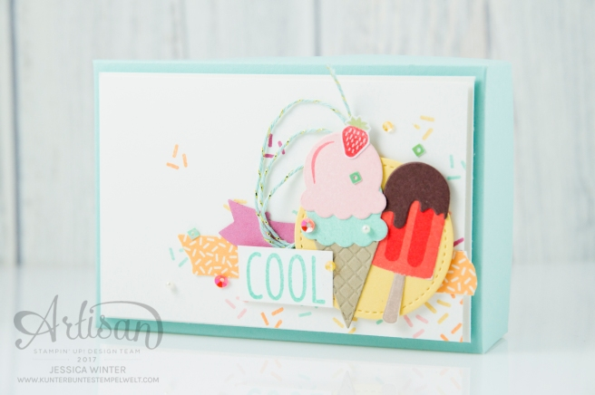 Stampin´ Up! - Artisan Design Team, Eis Eis Baby - Framelitsformen Coole Kreationen - Magnetspiel - Zuckerstreusel - 1