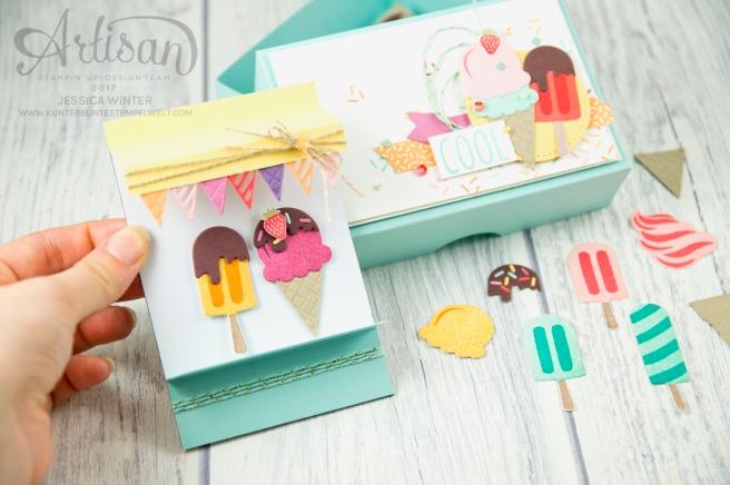 Stampin´ Up! - Artisan Design Team, Eis Eis Baby - Framelitsformen Coole Kreationen - Magnetspiel - Zuckerstreusel - 6
