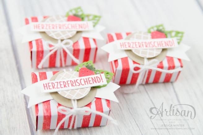 Strampin´ Up! - Mini Tic Tac Verpackung - Stanz und Falzbrett für Umschläge - Envelope Punch Board - Eis, Eis, Baby - Designerpapier Genussmomente - 1