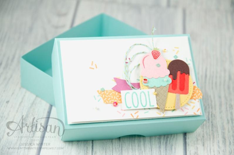 Stampin´ Up! - Artisan Design Team, Eis Eis Baby - Framelitsformen Coole Kreationen - Magnetspiel - Zuckerstreusel - 5