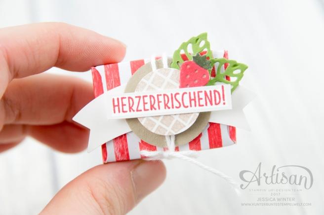 Strampin´ Up! - Mini Tic Tac Verpackung - Stanz und Falzbrett für Umschläge - Envelope Punch Board - Eis, Eis, Baby - Designerpapier Genussmomente - 2