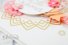 Stampin´ Up! - Artisan Design Team - Schönheit des Orients - Thinlits Orient Medaillons - VinylaufkleberOreint in Gold - 6