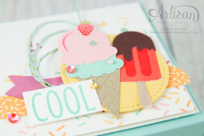 Stampin´ Up! - Artisan Design Team, Eis Eis Baby - Framelitsformen Coole Kreationen - Magnetspiel - Zuckerstreusel - 2