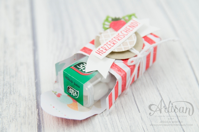 Strampin´ Up! - Mini Tic Tac Verpackung - Stanz und Falzbrett für Umschläge - Envelope Punch Board - Eis, Eis, Baby - Designerpapier Genussmomente - 3