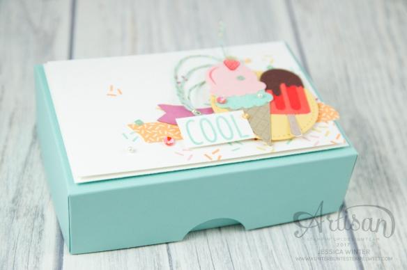 Stampin´ Up! - Artisan Design Team, Eis Eis Baby - Framelitsformen Coole Kreationen - Magnetspiel - Zuckerstreusel - 3