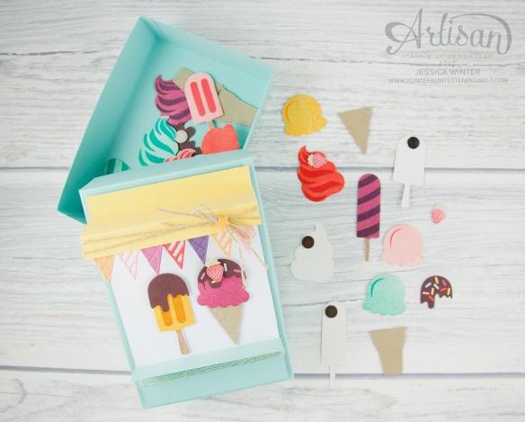 Stampin´ Up! - Artisan Design Team, Eis Eis Baby - Framelitsformen Coole Kreationen - Magnetspiel - Zuckerstreusel - 7