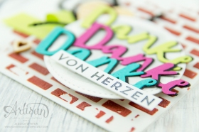 Stampin´ Up! - Struktur-Paste - Dekoschablonen Muster-Mix - Thinlits Liebevolle Worte - Mini Pailettenband - 3