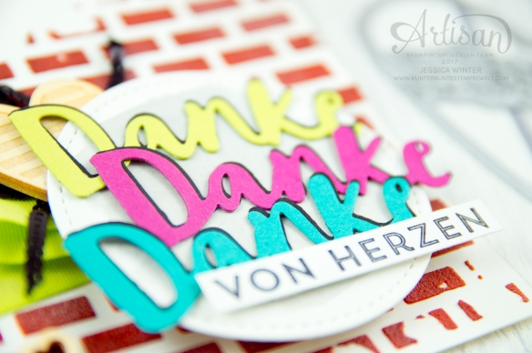 Stampin´ Up! - Struktur-Paste - Dekoschablonen Muster-Mix - Thinlits Liebevolle Worte - Mini Pailettenband -