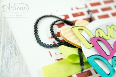 Stampin´ Up! - Struktur-Paste - Dekoschablonen Muster-Mix - Thinlits Liebevolle Worte - Mini Pailettenband - 4