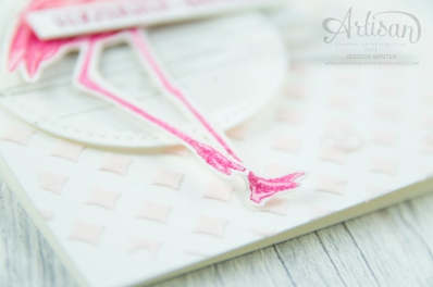 Stampin´ Up! - Flamingo Fantasie - Strukturpaste - Dekoschablonen - Mini Pailettenband - 4