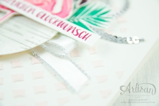 Stampin´ Up! - Flamingo Fantasie - Strukturpaste - Dekoschablonen - Mini Pailettenband - 3