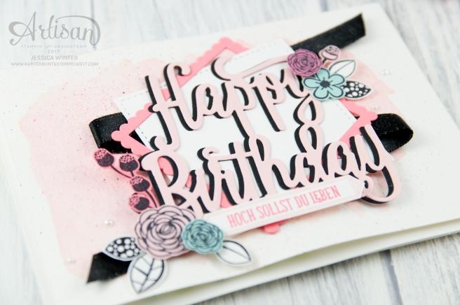 Stampin´ Up! - Alles Liebe Geburtstagskind - Thinlitsform Happy Birthday - Lagenweise Quadrate - Framlitsformen Stickmuster - 2