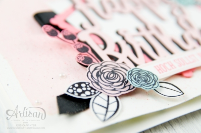 Stampin´ Up! - Alles Liebe Geburtstagskind - Thinlitsform Happy Birthday - Lagenweise Quadrate - Framlitsformen Stickmuster - 4