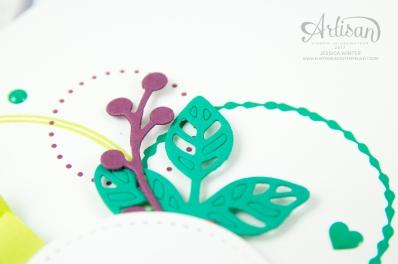Stampin´ Up! - Kreiert mit Liebe - Schönheit des Orients - Thinlits Blütenpoesie - Stickmuster - 3