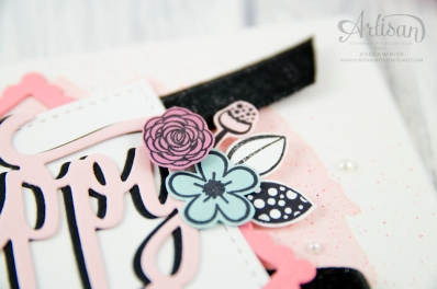Stampin´ Up! - Alles Liebe Geburtstagskind - Thinlitsform Happy Birthday - Lagenweise Quadrate - Framlitsformen Stickmuster - 3