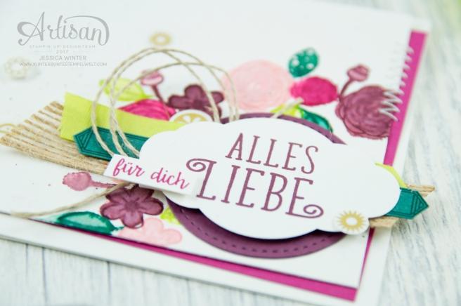 Stampin´ Up! - Artisan Design Team - Alles Liebe, Geburtstagskind - Zier-Etikett - Vinylaufkleber Orient in Gold - 2