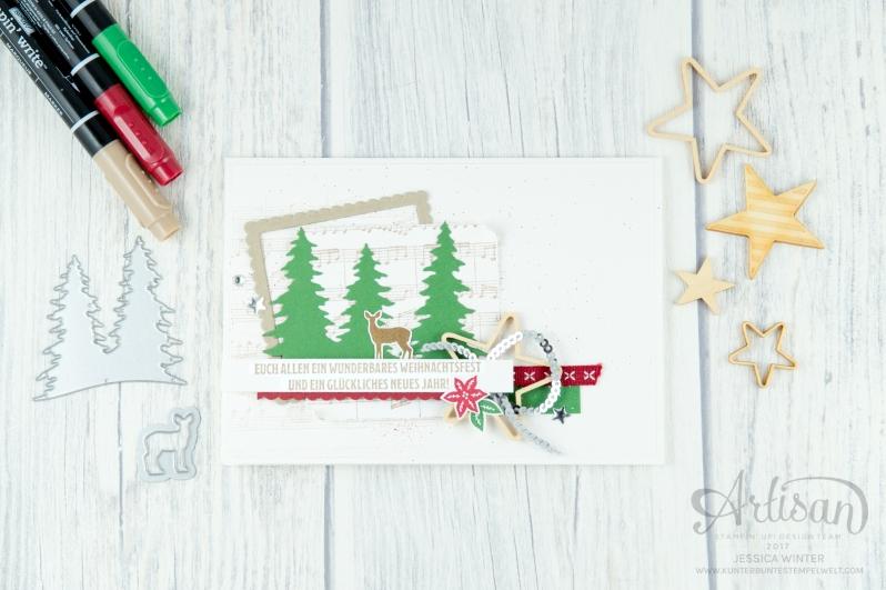 Stampin´ Up! - Artisan Design Team - Wie ein Weihnachtslied - Frmelitsformen Festtgsdesign - Acessoires Herzen & Sterne - 1