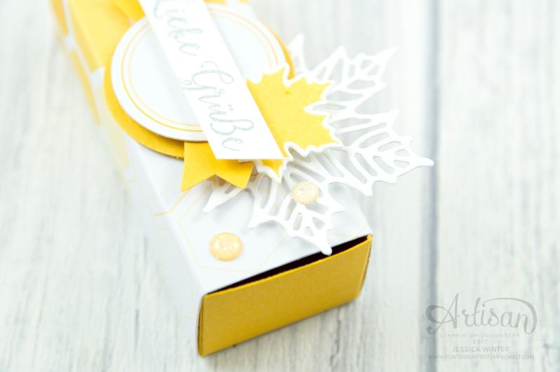 Stampin´ Up! - Jahr voller Farben - Thinlitsformen Aus jeder Jahreszeit - Produktreihe Farbenspiel - Verpackung für Ferrrero Küsschen - 3