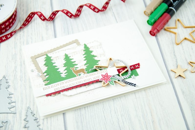 Stampin´ Up! - Artisan Design Team - Wie ein Weihnachtslied - Frmelitsformen Festtagsdesign - Acessoires Herzen & Sterne - 4