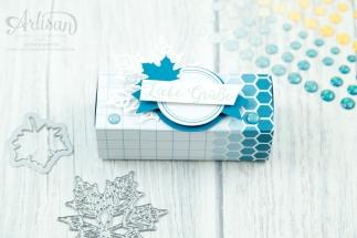 Stampin´ Up! - Jahr voller Farben - Thinlitsformen Aus jeder Jahreszeit - Produktreihe Farbenspiel - Verpackung für Ferrrero Küsschen - 8