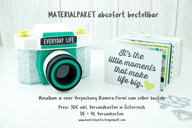 Stampin´ Up! - Materialpaket - Papier Kamera - Minialbum - Verpackung - 1